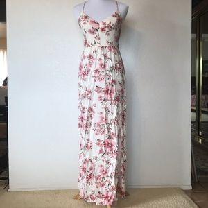 Long maxi low back Sakura dress 🌸